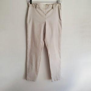 H&M Slim Khaki Stretch Pants in Cream Size 8